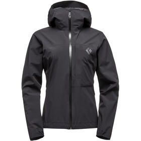 Black Diamond Fineline Stretch Rain Shell Jacket Damen black